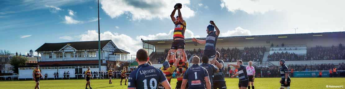 Richmond Rugby fc Feltons sponsor